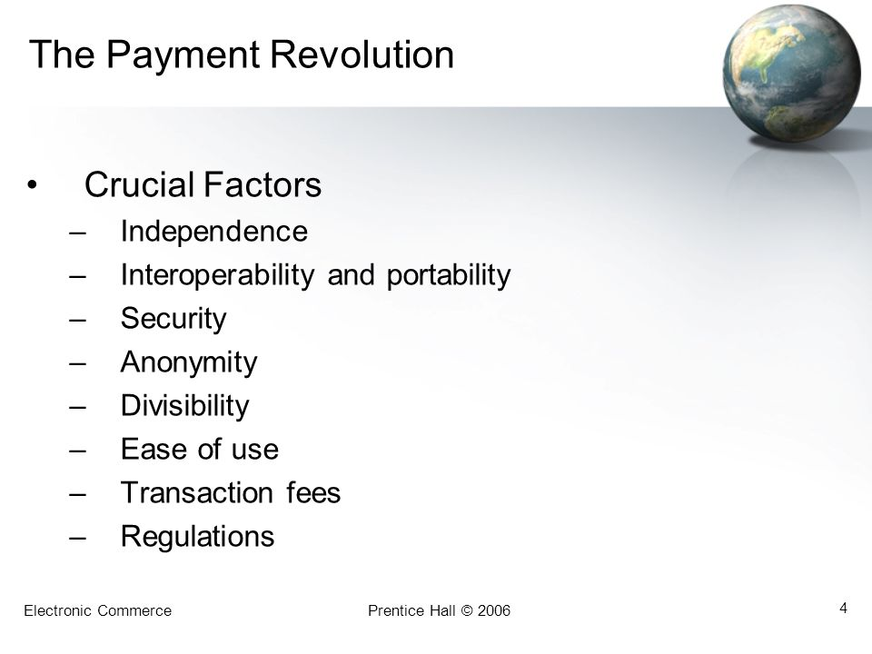 The Payment Revolution