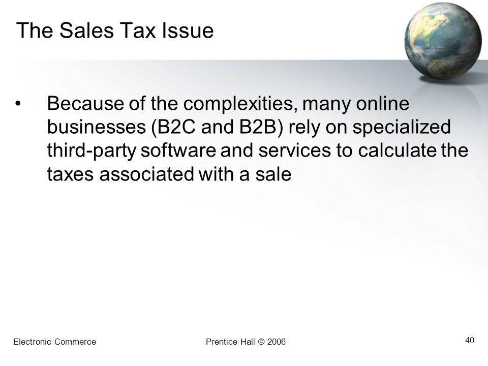 The Sales Tax Issue