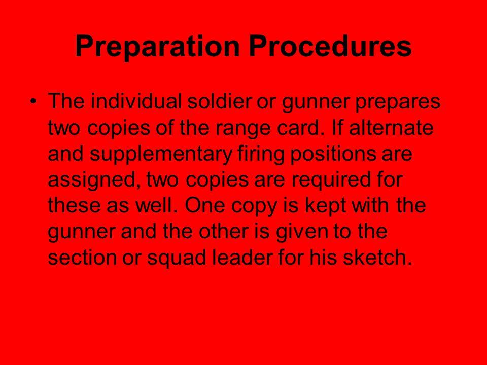 Preparation Procedures