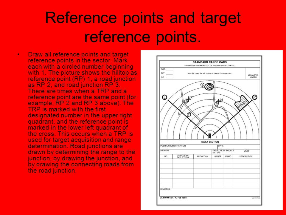 Reference points and target reference points.
