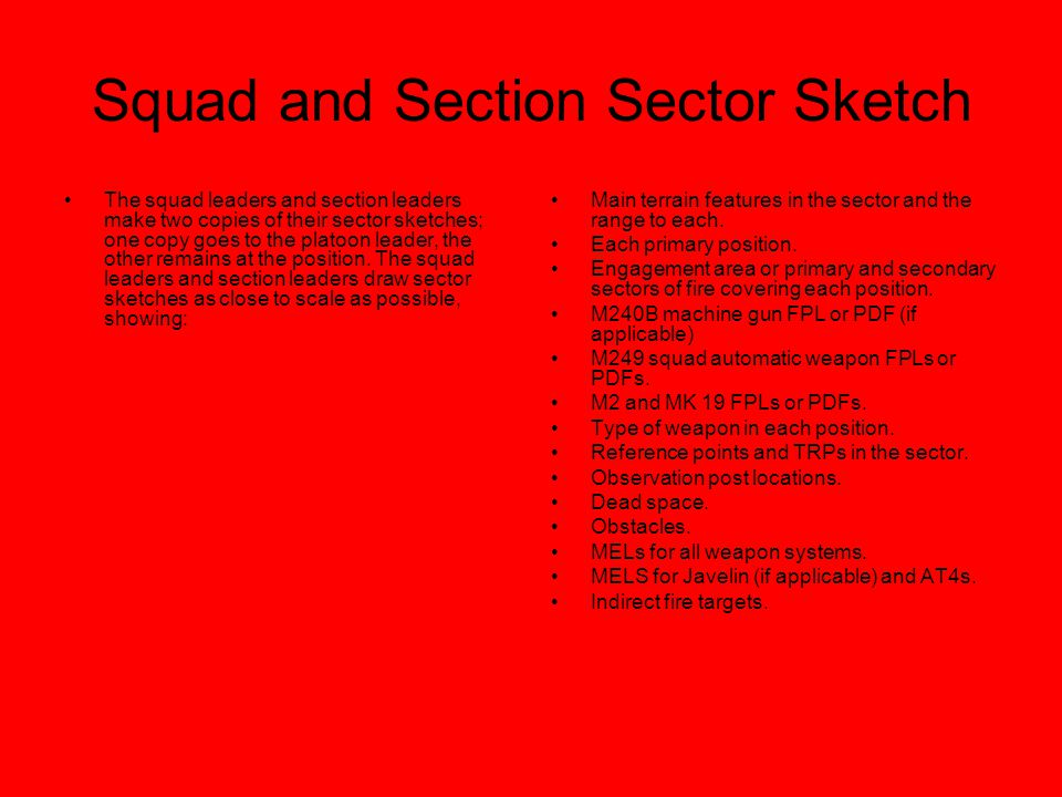 Squad and Section Sector Sketch