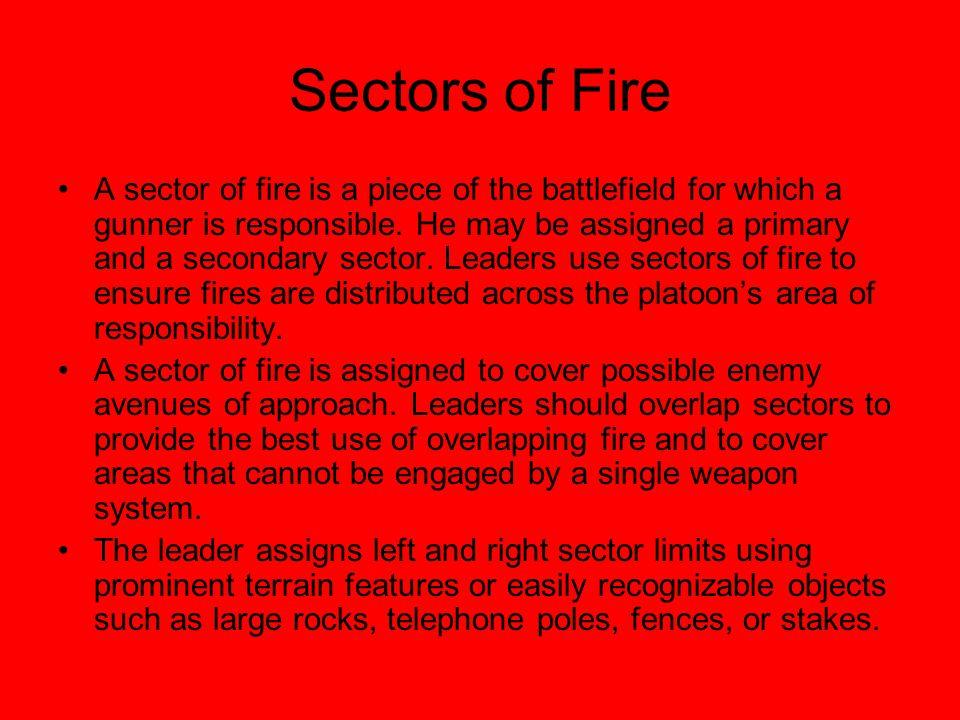 Sectors of Fire