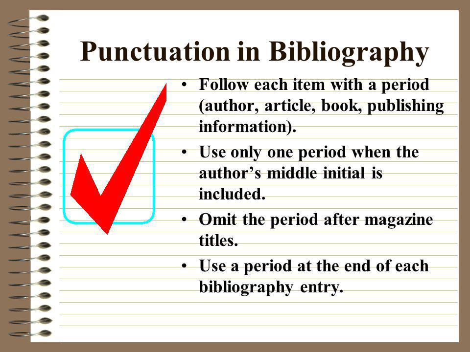 Punctuation in Bibliography