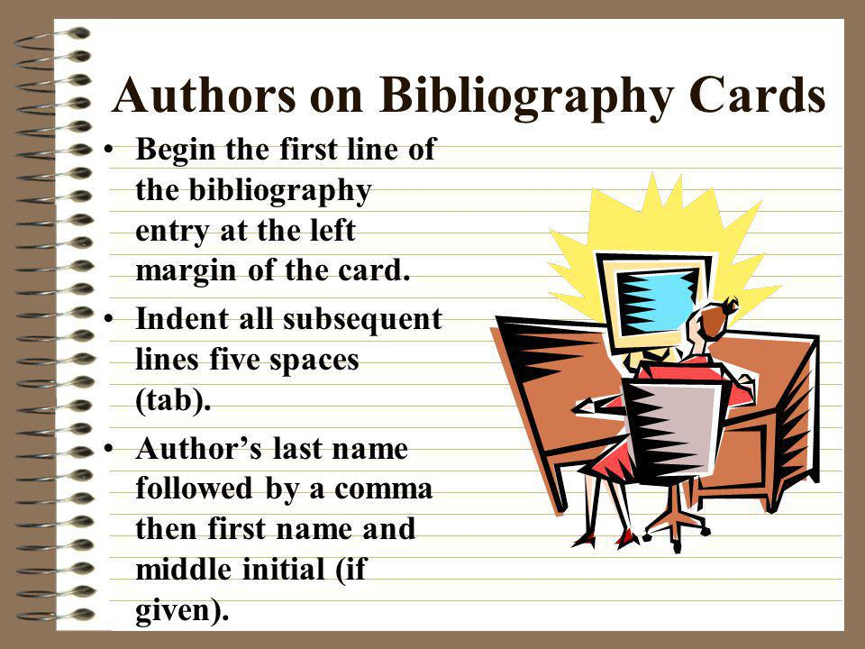 Authors on Bibliography Cards