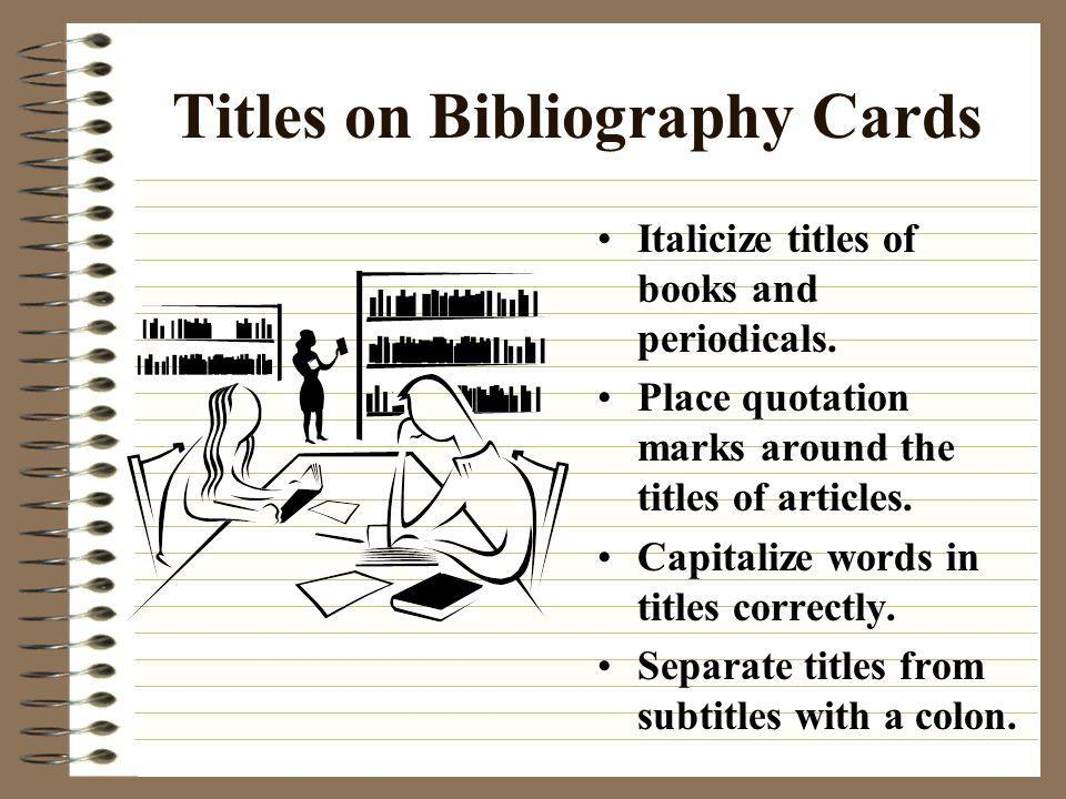 Titles on Bibliography Cards