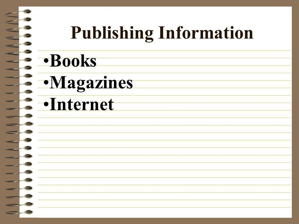 Publishing Information