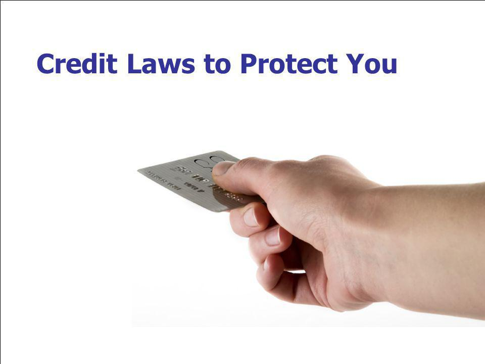 Credit Laws to Protect You