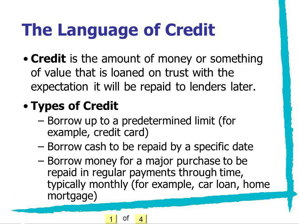 The Language of Credit
