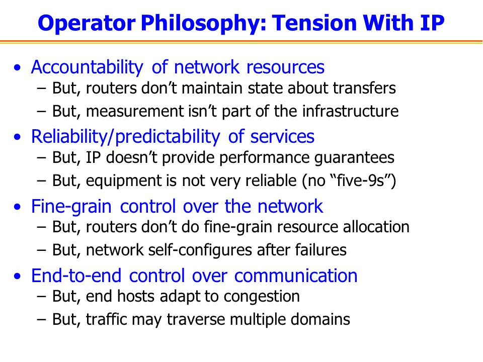 Operator Philosophy: Tension With IP