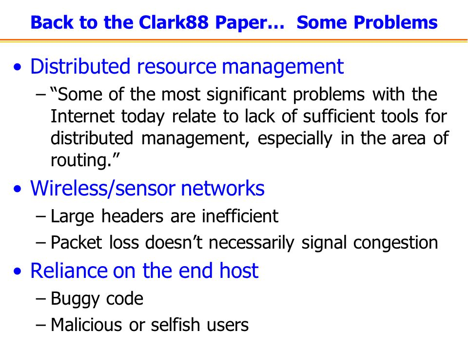 Back to the Clark88 Paper… Some Problems