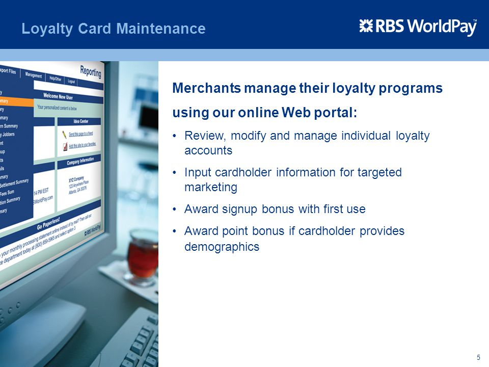 Loyalty Card Maintenance