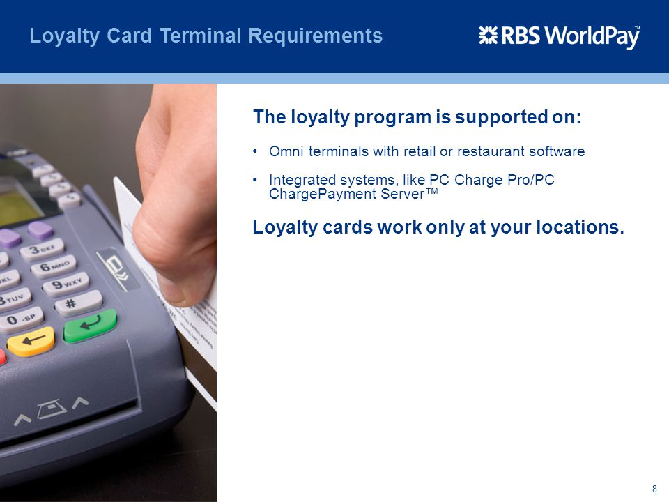 Loyalty Card Terminal Requirements