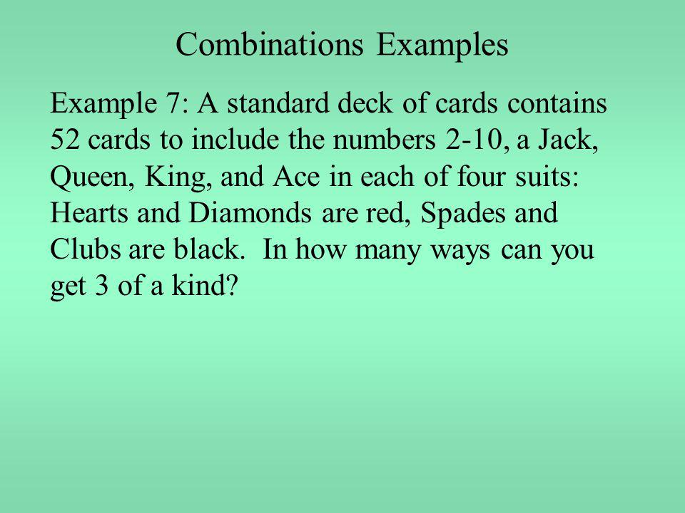 Combinations Examples