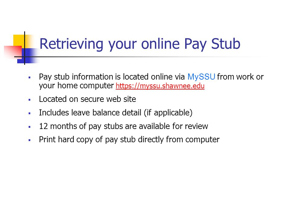 Retrieving your online Pay Stub