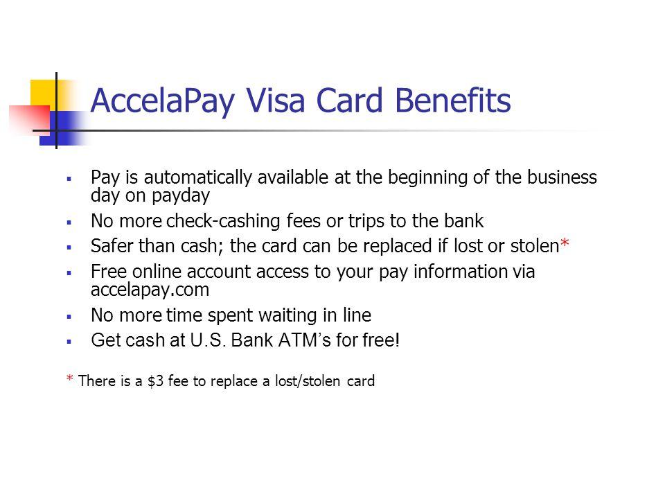 AccelaPay Visa Card Benefits