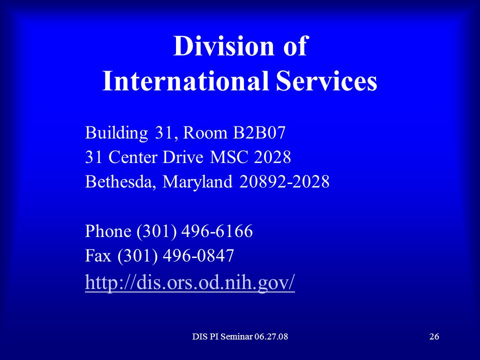 Division of International Services