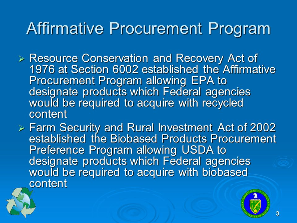Affirmative Procurement Program