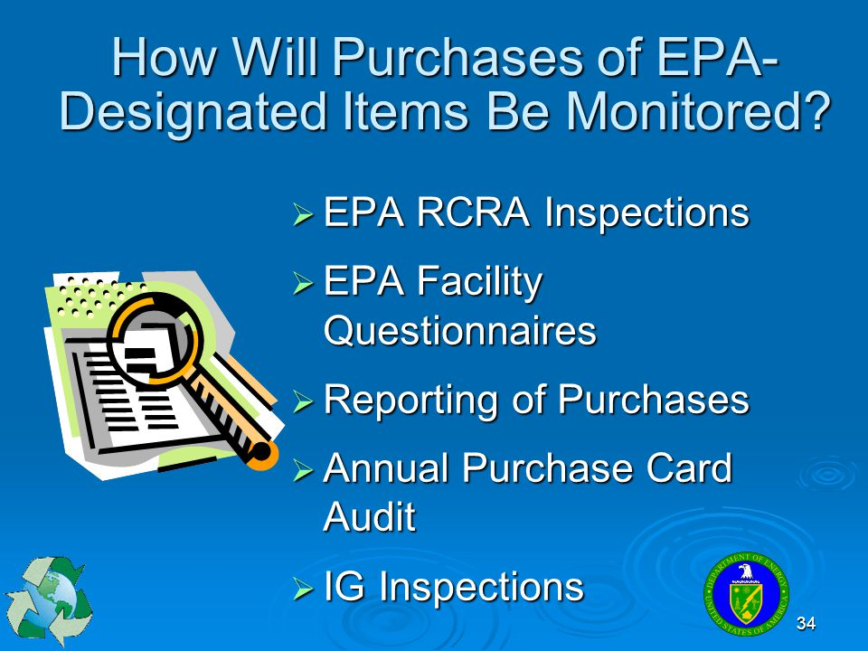 How Will Purchases of EPA- Designated Items Be Monitored