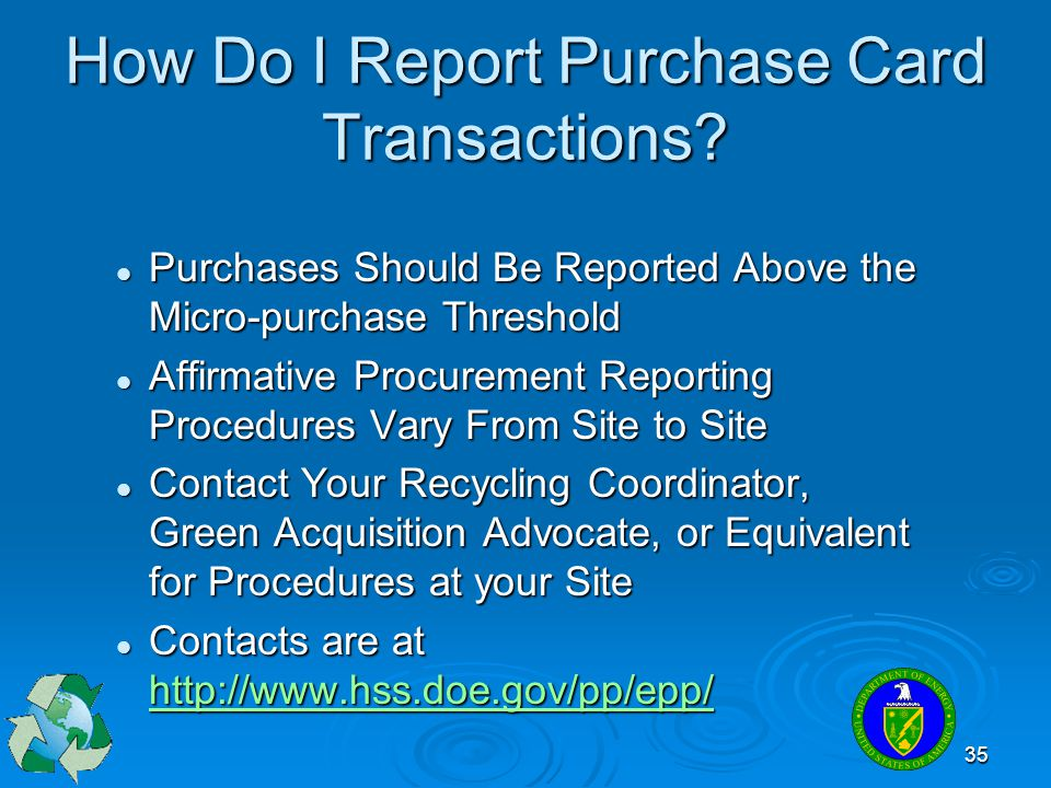 How Do I Report Purchase Card Transactions