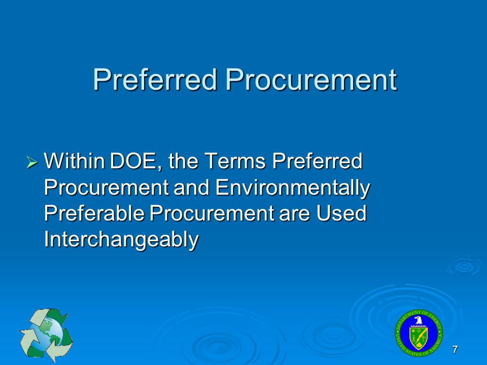 Preferred Procurement