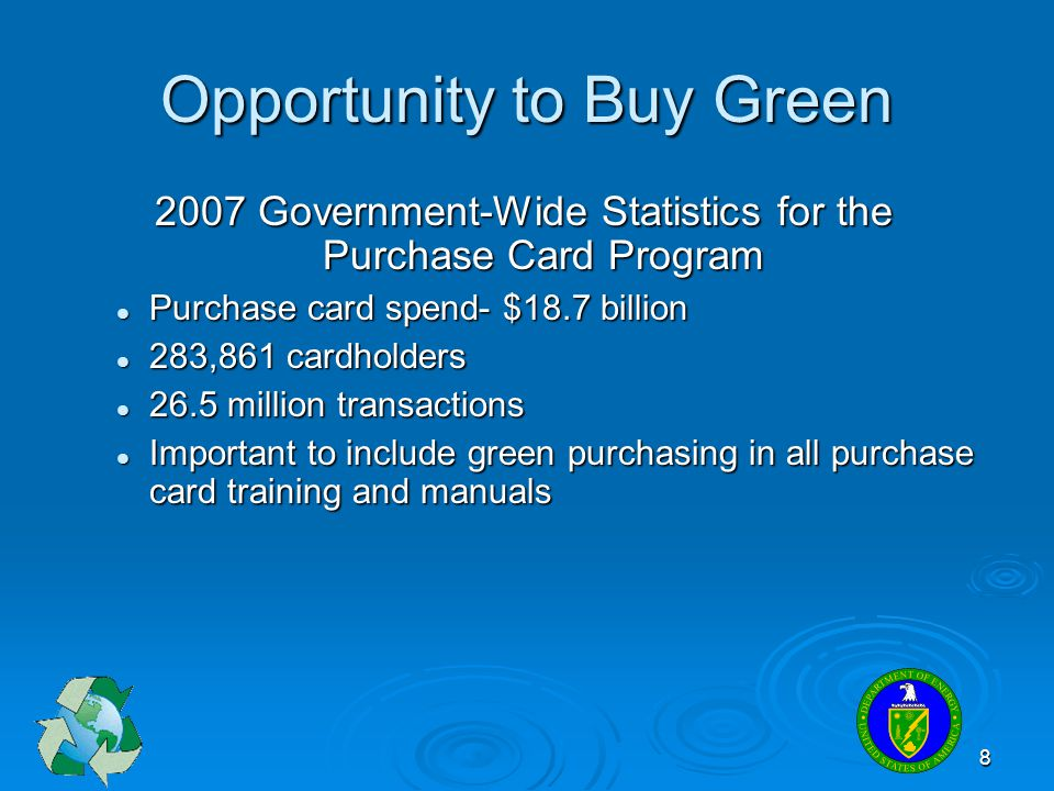 Opportunity to Buy Green