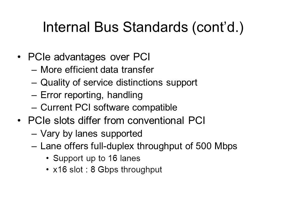 Internal Bus Standards (cont'd.)