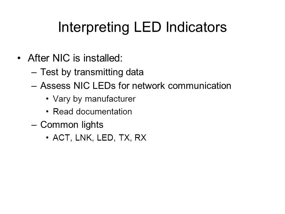 Interpreting LED Indicators