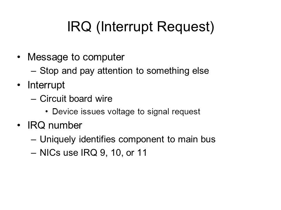 IRQ (Interrupt Request)