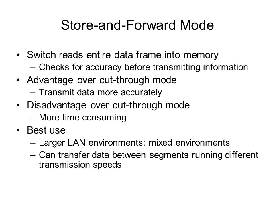 Store-and-Forward Mode