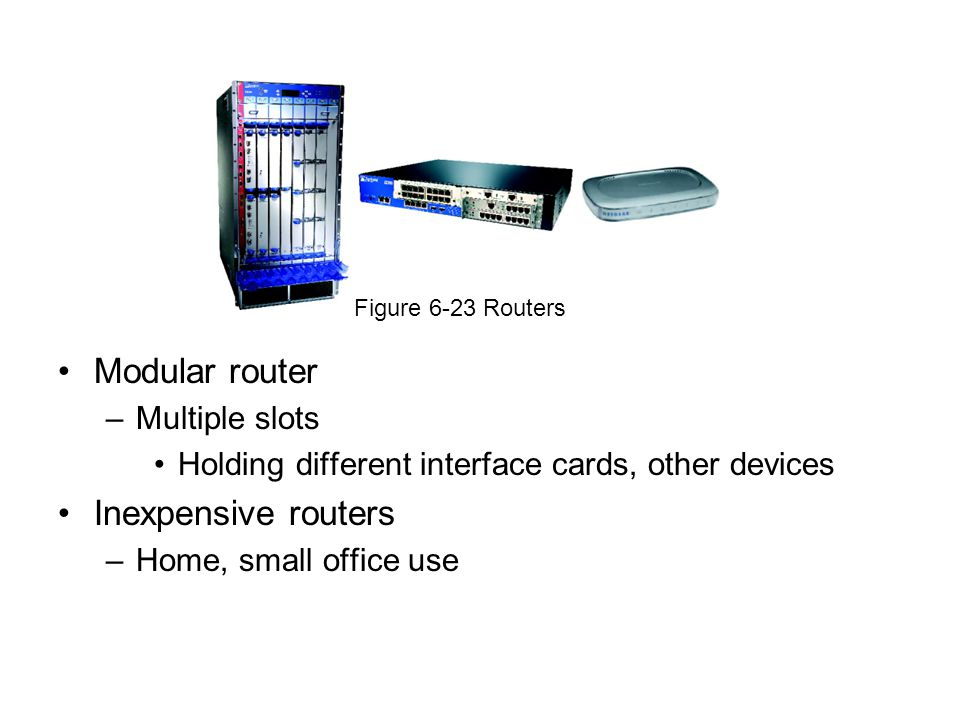 Modular router Inexpensive routers Multiple slots