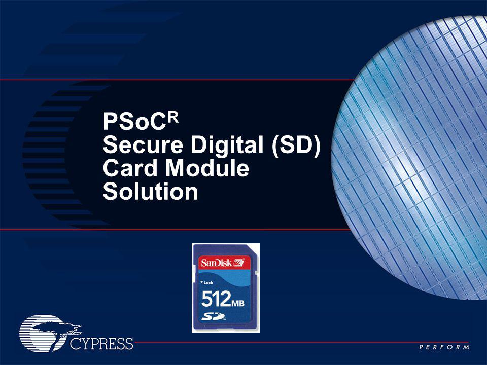 PSoCR Secure Digital (SD) Card Module Solution