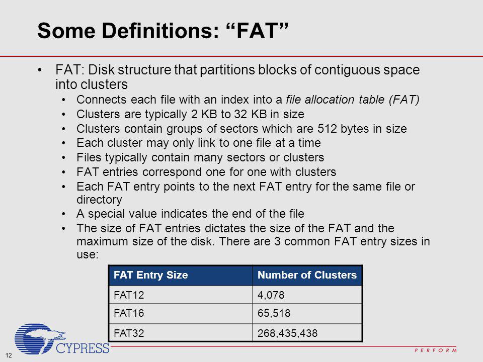 Some Definitions: FAT