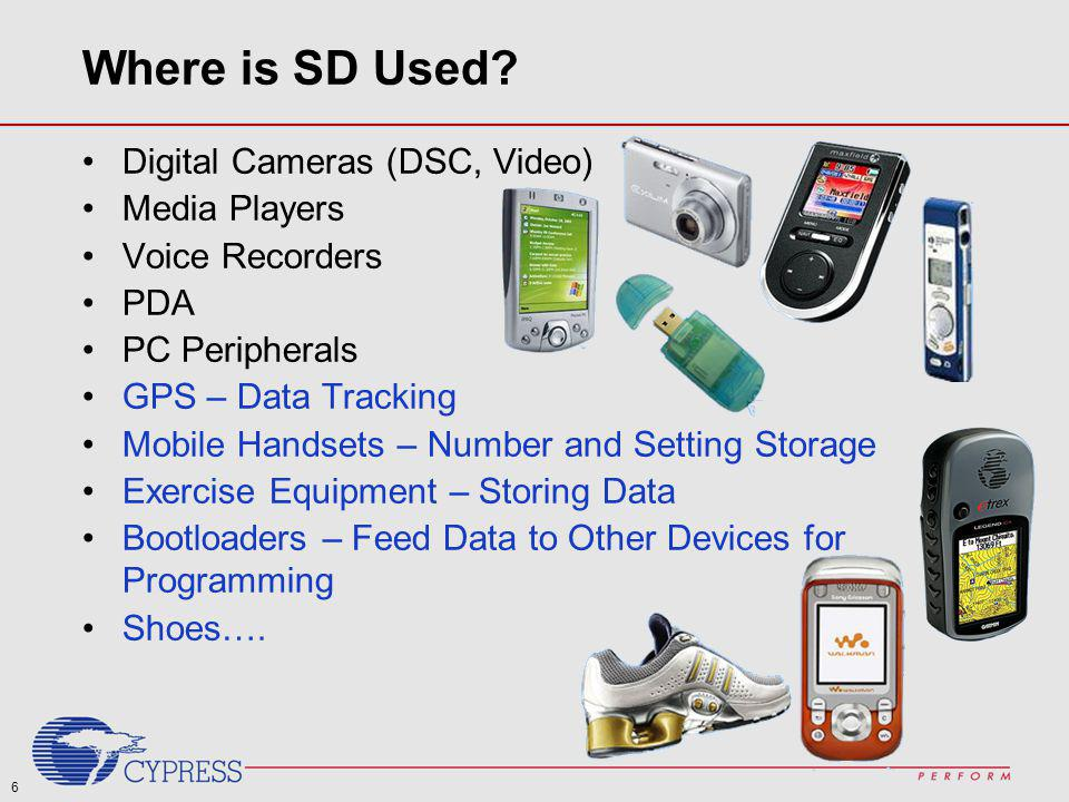 Where is SD Used Digital Cameras (DSC, Video) Media Players