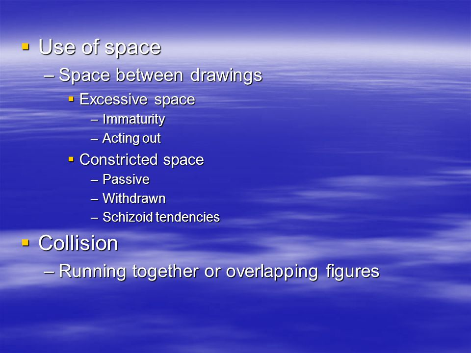 Use of space Collision Space between drawings