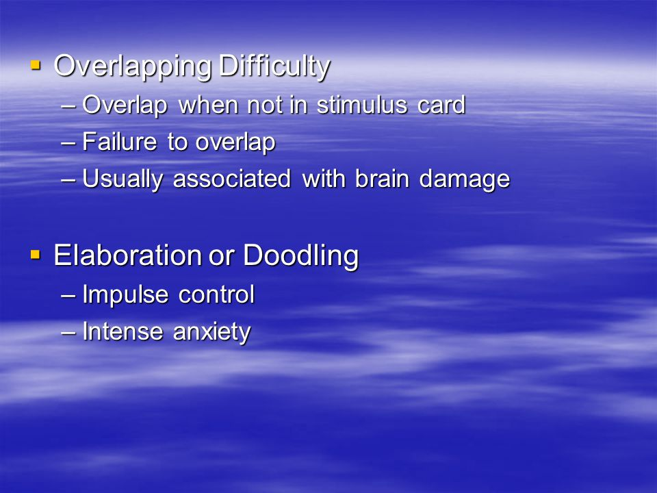 Overlapping Difficulty
