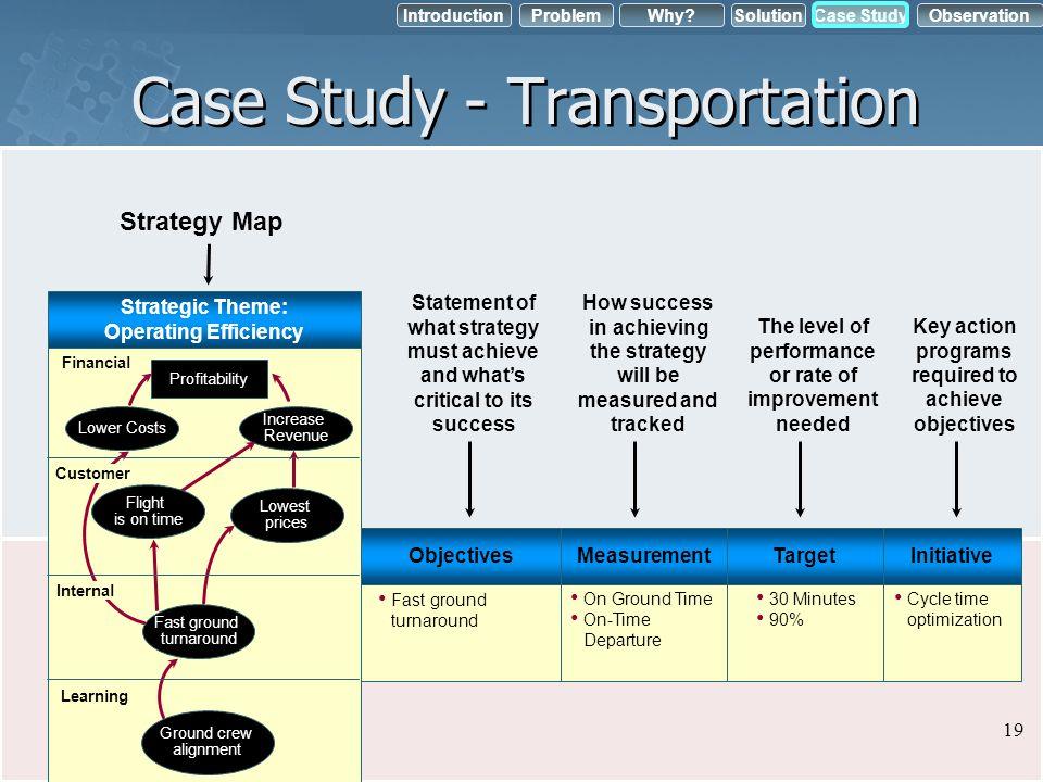 Case Study - Transportation