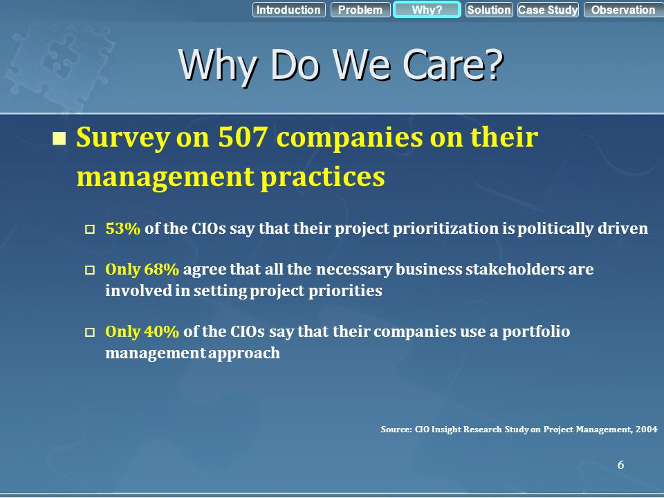 Why Do We Care Survey on 507 companies on their management practices