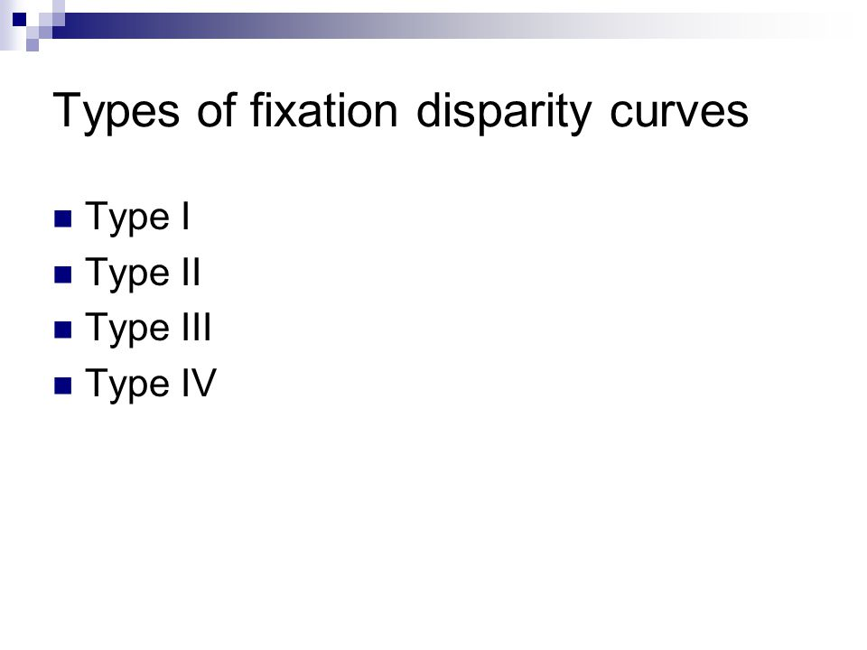Types of fixation disparity curves