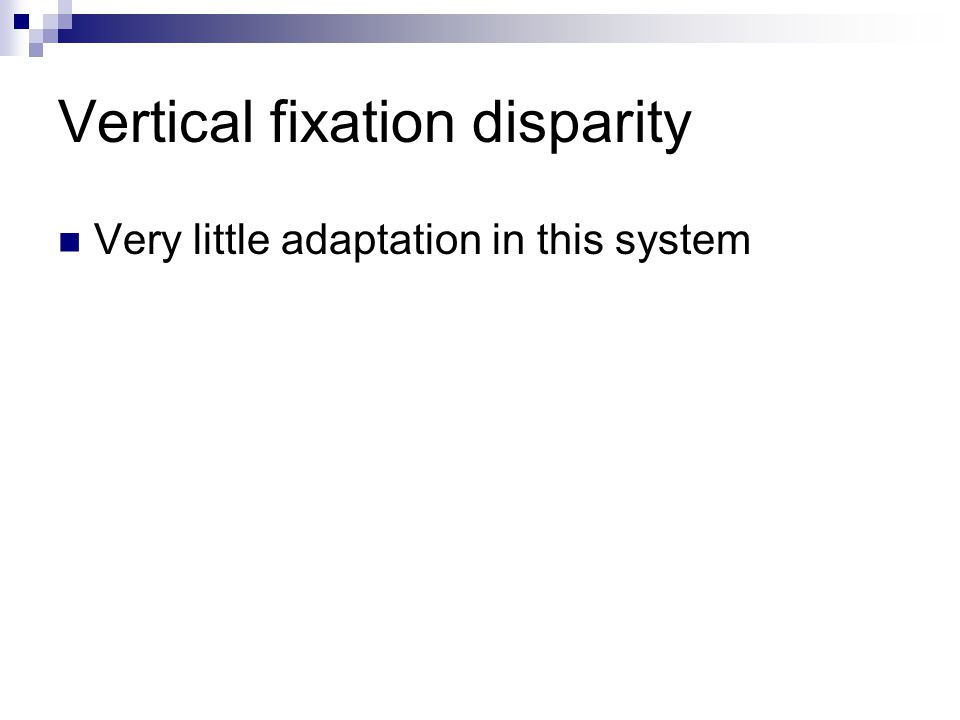 Vertical fixation disparity