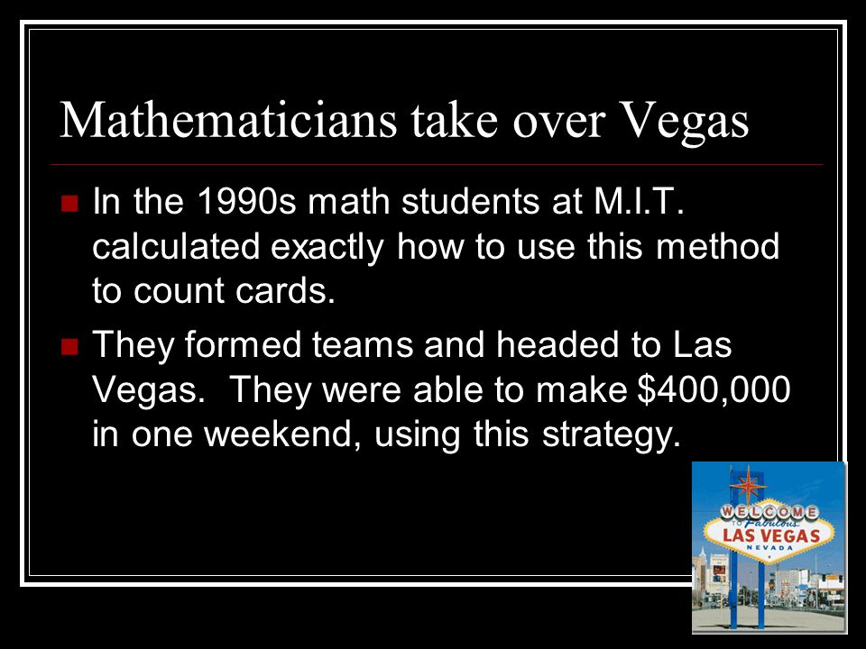 Mathematicians take over Vegas