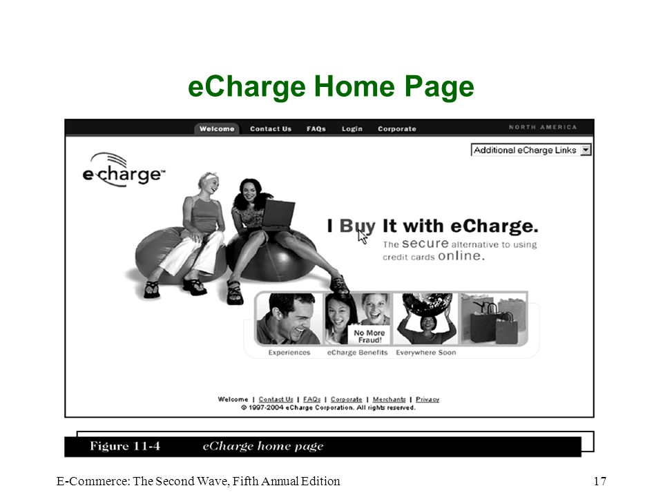 eCharge Home Page E-Commerce: The Second Wave, Fifth Annual Edition