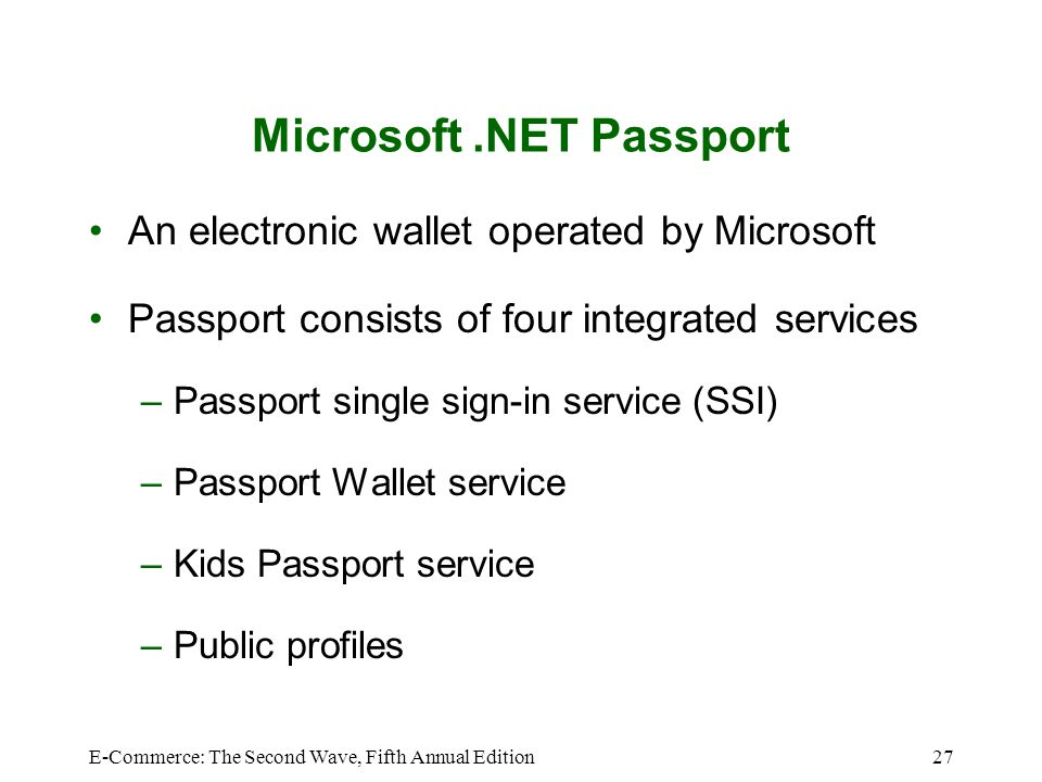 Microsoft .NET Passport