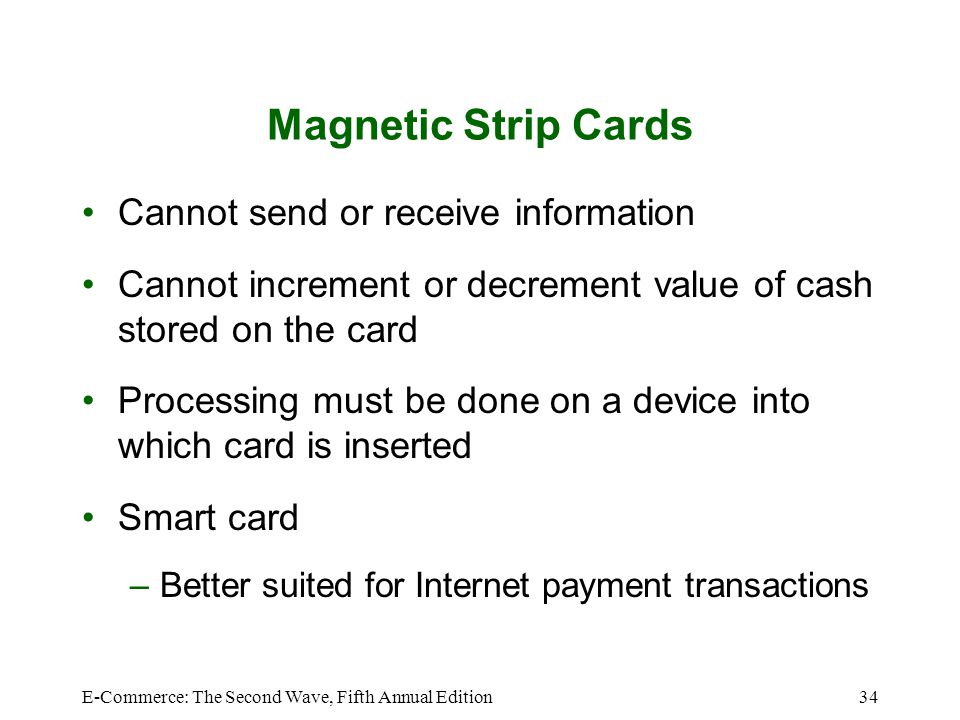Magnetic Strip Cards Cannot send or receive information