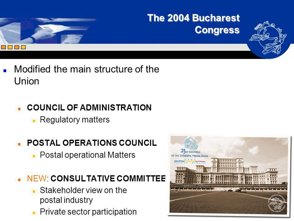 The 2004 Bucharest Congress