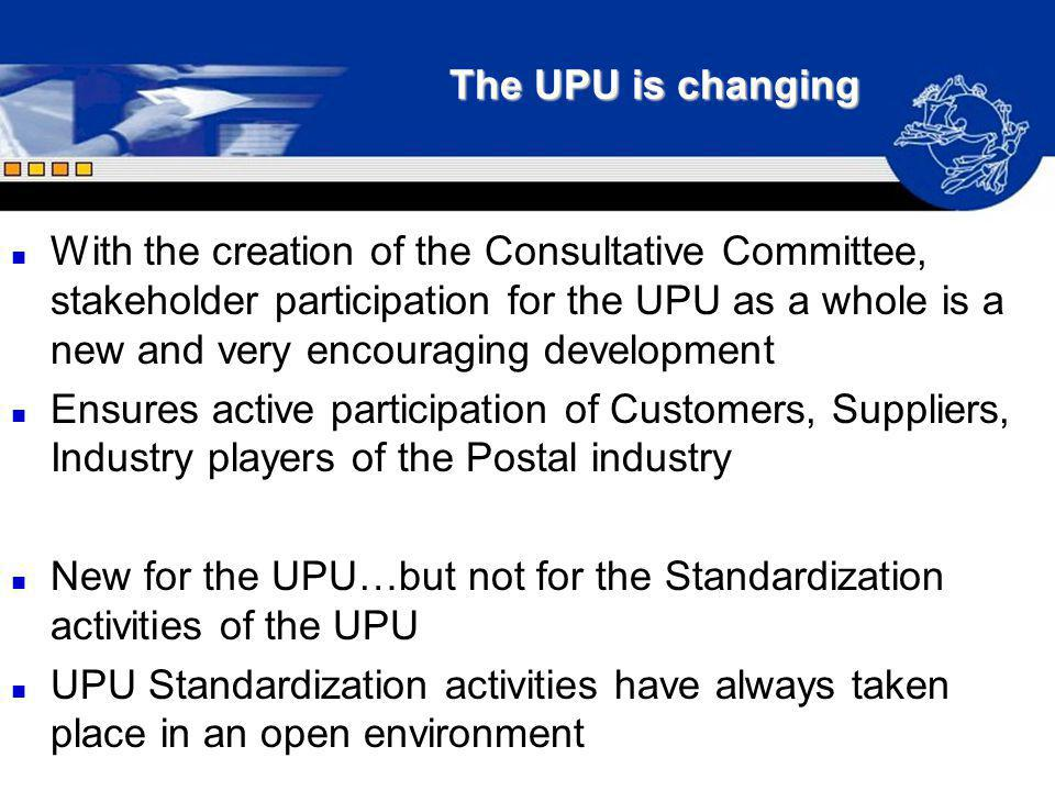 The UPU is changing