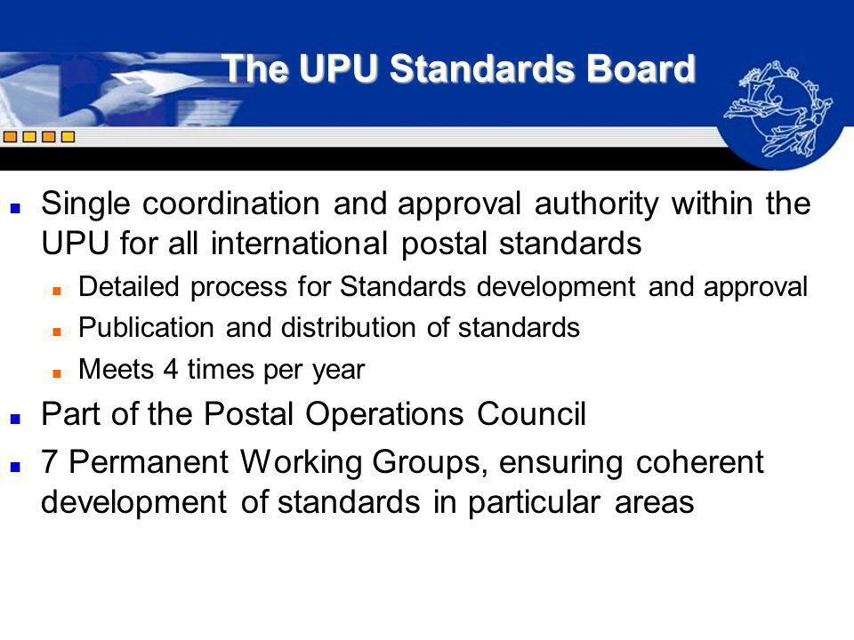 The UPU Standards Board
