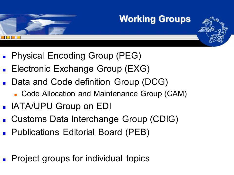 Physical Encoding Group (PEG) Electronic Exchange Group (EXG)