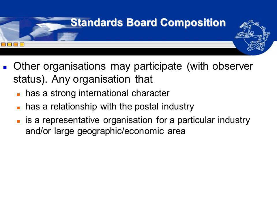 Standards Board Composition
