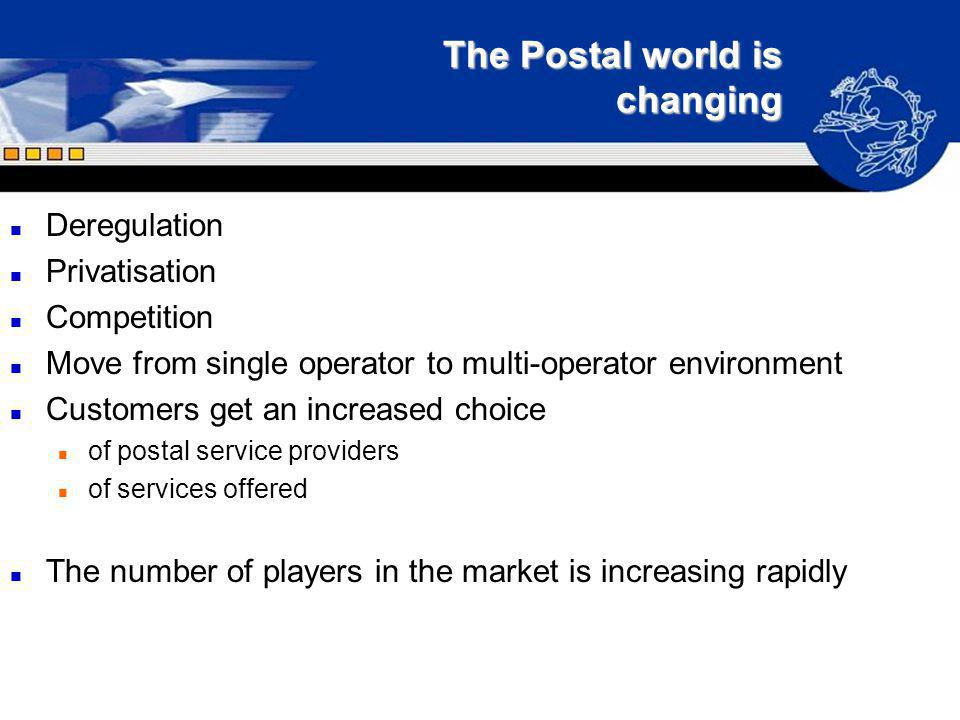 The Postal world is changing