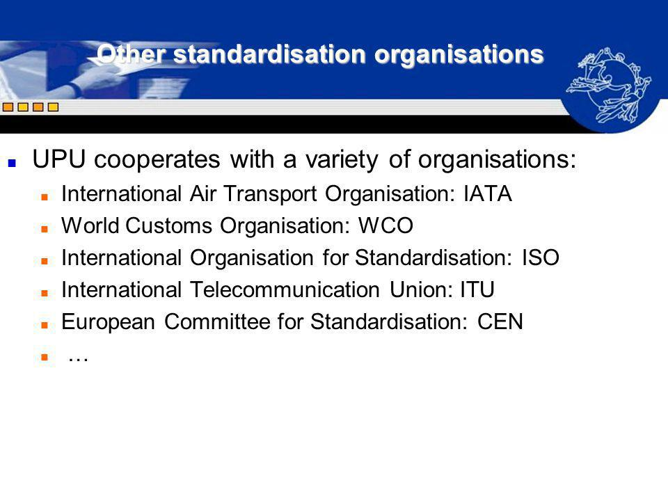 Other standardisation organisations